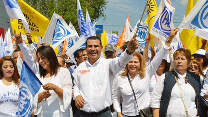 """Con una marcha por la paz y contra la corrupción, """"Beto Díaz cerro las actividades de su campaña por la presidencia municipal de Tlalnepantla."""