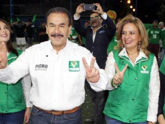 Pedro Rodríguez, candidato por el Partido Verde Ecologista para la alcaldía de Atizapán