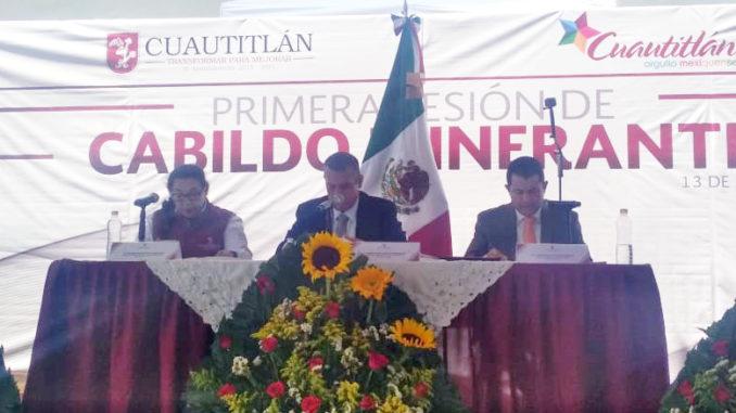 En el Parque de la Cruz se llevó a cabo la Primera Sesión Itinerante de Cabildo