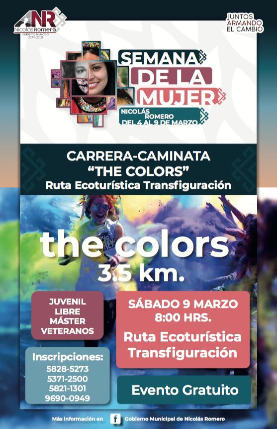 """Caminata """"The Colors"""" entre las actividades programadas"""