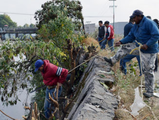 La limpieza del Río Hondo se complica en algunas zonas, debido a su difícil acceso