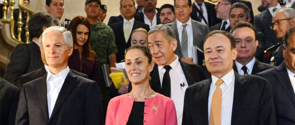 Se reúne mandatario mexiquense con el Secretario de Seguridad y Protección Ciudadana del Gobierno de México, la Jefa de Gobierno de la CDMX, el Coordinador de la Comandancia de la Guardia Nacional y los Gobernadores de Guerrero y Morelos.