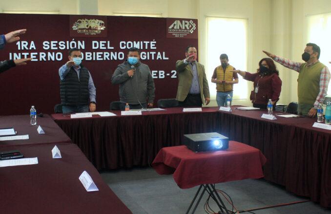 En el marco de la primera sesión del Comité Interno de Gobierno Digital.